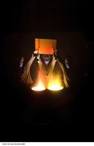 Blue Men awe Orlando audiences with music, art